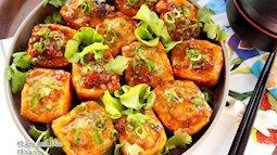 Làm món đậu phụ nhồi tôm vừa bổ dưỡng lại dễ ăn