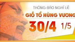 Dịp giỗ tổ Hùng Vương và 30/4 người lao động được nghỉ 8 ngày