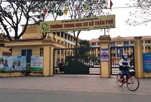 Trường THCS Trần Phú, nơi thầy giáo bị nghi có hành vi dâm ô đối với 7 học sinh nam