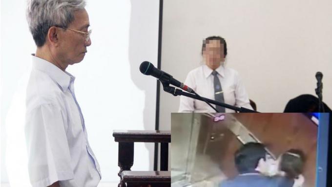 Ông Trần Khắc Thủy bị phạt tù về tội dâm ô trẻ em (Ảnh lớn). Còn ông Nguyễn Hữu Linh đang bị dư luận lên án vì có hành vi bị cho là sàm sỡ bé gái ở chung cư Galaxy 9 (Ảnh nhỏ).