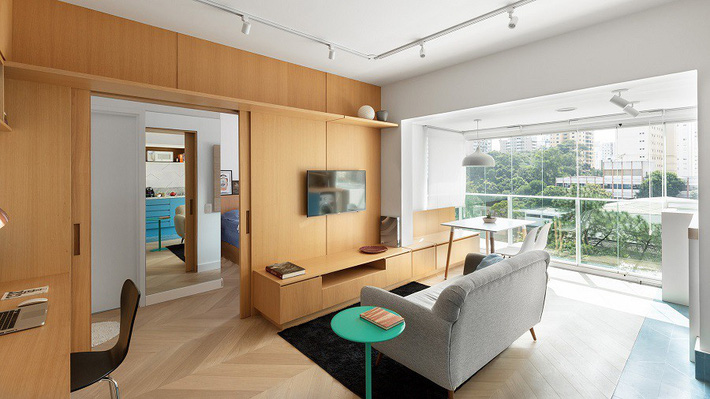 Kiến trúc sư khéo léo nhất hệ mặt trời vì thiết kế căn hộ nhỏ vừa đơn giản, thông minh mà vẫn ăn gian được không gian sống - Ảnh 4.