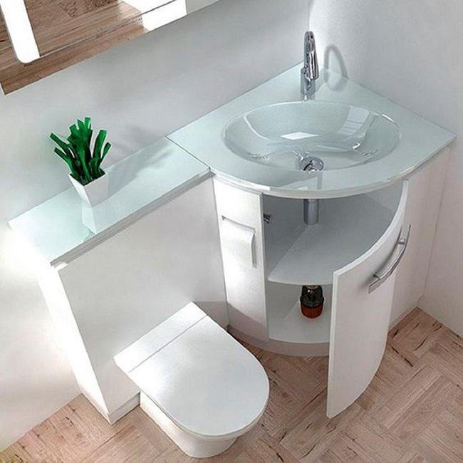 Gợi ý các thiết kế bồn cầu ăn gian diện tích cho những người sở hữu một căn phòng tắm chật hẹp - Ảnh 12.
