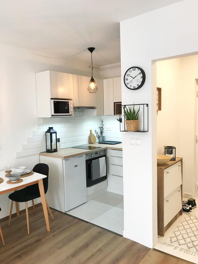 9 phòng bếp nhỏ xíu nhưng nhìn là mê, rất đáng tham khảo cho nhà chật - Ảnh 7.
