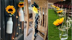 Hoa hướng dương - sắc màu tươi vui, hạnh phúc cho tiệc cưới của bạn