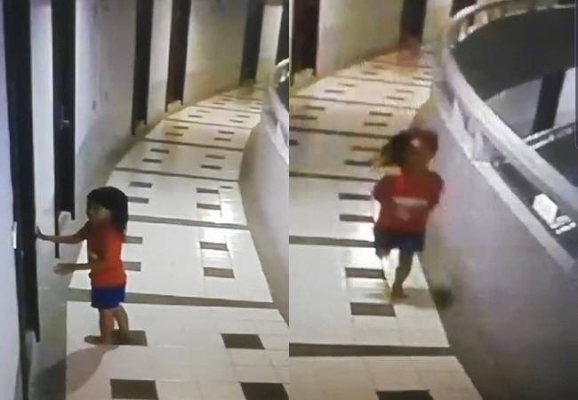 Đi du lịch cùng bố, bé gái 5 tuổi nguy kịch khi rơi xuống từ tầng 12 nhưng hình ảnh qua camera mới tiết lộ sự thật rùng mình - Ảnh 1.