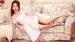 Diệu Nhi mặc váy xẻ đùi cao khoe chân nuột nà trong set đồ ngọt ngào