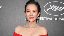 Chương Tử Di 'chơi lớn', diện váy xẻ ngực khoe vòng 1 đẫy đà trong sự kiện bên lề Cannes 2019