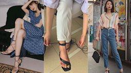 Sandals quai mảnh: Item mảnh mai nhẹ nhàng mà hợp gu từ hội bánh bèo điệu đà đến nàng cá tính sang chảnh