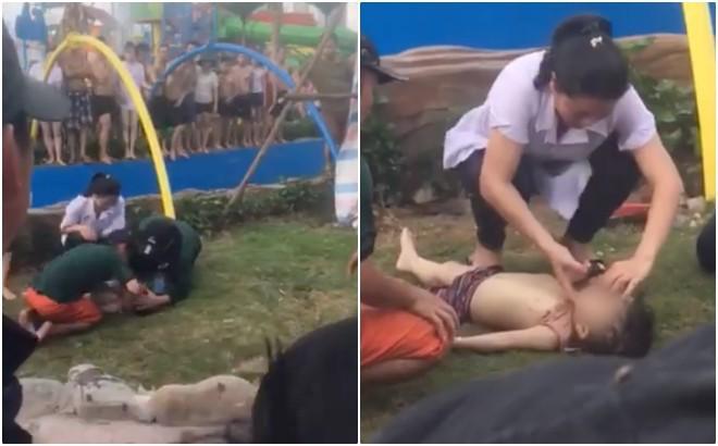 Công viên nước Thanh Hà tạm dừng hoạt động sau sự cố bé trai đuối nước, nhiều gia đình từ xa đến đành quay về - Ảnh 9.