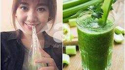 Uống nước ép cần Hari Won giảm 6kg trong 2 tháng, nhiều sao khác cũng đang dưỡng da giữ dáng bằng cốc nước thần thánh này