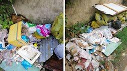 Bức xúc hàng xóm để đồ ăn thừa, tã - bỉm chất đống trước cửa nhà, cô gái đăng ảnh nhờ dân mạng 'mách nước'
