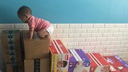 Con 2 ngày tuổi đã được mẹ Việt ở Mỹ cho tập thể dục, bé 5 tháng đã biết ngồi, 8 tháng tự tập đi