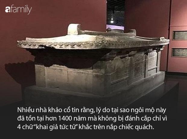Khai quật mộ cổ nghìn năm của cháu gái Hoàng hậu Trung Hoa và câu chuyện bí ẩn đằng sau 4 chữ người mở sẽ chết trên nắp quan tài - Ảnh 9.