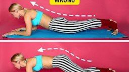 Tập plank mang  lại hiệu quả gấp 1000 lần gập bụng, nhưng nếu mắc 3 lỗi này thì coi như công cốc