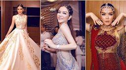 Lạc vào thế giới 'Nghìn lẻ một đêm' với 4 bộ đầm dát vàng của Lý Nhã Kỳ tại tiệc sinh nhật tỷ phú kim cương