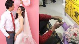 Đám cưới đặc biệt của chàng trai bay từ Nhật về để trao nhẫn lên bàn thờ vợ: 'Anh muốn làm cho em nhiều hơn thế'