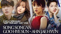 """5 điểm đối lập của 2 vụ ly hôn chấn động Song Song và Goo Ahn: Cách """"cà khịa"""" đến chia tài sản đều thể hiện rõ đẳng cấp"""