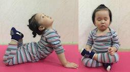 Góc thể dục thể thao nâng cao sức khỏe: Bé 2 tuổi với 1001 tư thế tập yoga khiến dân mạng phì cười vì quá đáng yêu