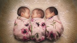 Lần đầu sinh đơn, lần hai sinh đôi, lần kế tiếp sinh ba cô con gái đẹp như hoa hậu  - câu chuyện có thật của 1 gia đình đông con