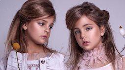"""'Cặp chị em song sinh đẹp nhất thế giới' nay đã lớn: Sở hữu 1,4 triệu follow trên Instagram, mới 9 tuổi đã """"cá kiếm"""" cả triệu đô mỗi năm"""