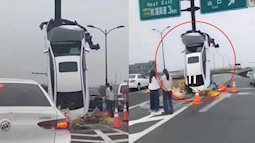 Lái xe trong tình trạng say xỉn, nghi có dùng ma túy, nữ tài xế gây tai nạn với chiếc xe dựng đứng khó tin, dân mạng lắc đầu ngao ngán