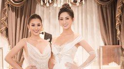 2 cô gái vàng trong làng Hoa hậu: Tiểu Vy và Thùy Linh khoe nhan sắc một chín một mười trong cùng một khung hình