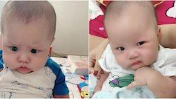 Sao y bản chính: Khi mang thai mẹ lúc nào cũng nhăn nhó, đẻ con ra mặt mũi cau có y chang
