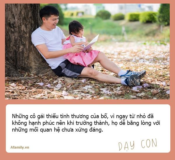 Chuyên gia tâm lý học Mỹ nhận định: Con gái lớn lên có lấy được chồng tốt hay không đều do ảnh hưởng của người bố - Ảnh 4.