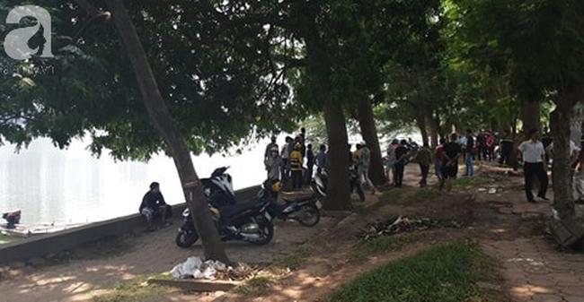 Hà Nôi: Phát hiện thi thể một thanh niên nổi trên hồ Linh Đàm - Ảnh 2.