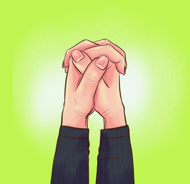 Thói quen nắm hai tay của bạn là thế nào? Nếu là giống số 2 thì bạn rất có tố chất lãnh đạo - Ảnh 1.