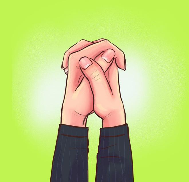 Thói quen nắm hai tay của bạn là thế nào? Nếu là giống số 2 thì bạn rất có tố chất lãnh đạo - Ảnh 3.