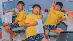 Chỉ sau 3 tháng vắng bóng, bộ 3 thiên thần nhí Daehan, Minguk, Manse đã lộ ảnh lên cân bất ngờ
