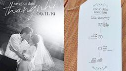 Cận cảnh thiệp cưới đẹp như mơ của cặp đôi Đông Nhi - Ông Cao Thắng