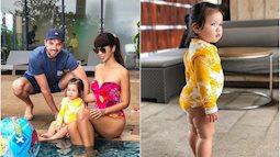 Khoe con gái mặc đồ bơi xinh như đồng hồ cát, nhưng siêu mẫu Hà Anh khiến ai cũng bật cười vì hình ảnh thật của bé Myla