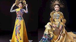"""Tường San đầu tư hẳn 2 bộ quốc phục mang tới Hoa hậu Quốc tế: Vẫn là Áo dài nhưng lại rất """"chặt chém"""""""