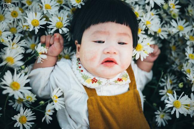 Cô bé khiến dân mạng cười như được mùa với biểu cảm: Đã thèm uống sữa rồi mà mẹ bắt đi chụp ảnh với cúc họa mi - Ảnh 4.