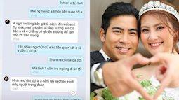 """Bị tố là """"người thứ 3"""" khiến vợ chồng Thanh Bình - Ngọc Lan trục trặc, cô gái trong ảnh quyết tung tin nhắn của cả hai bên"""