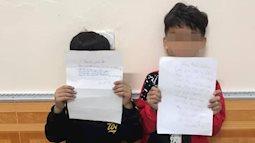 Viết thư cho bạn gái, 2 cậu nhóc lớp 1 bị cô giáo phạt viết bản kiểm điểm nhưng nội dung bên trong mới nhiều bất ngờ