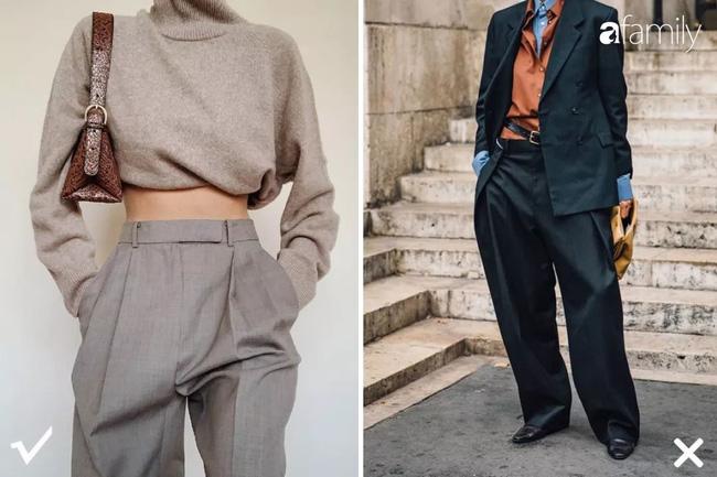 Mùa sale tranh thủ đi mua quần ống rộng, nhưng các chị em phải tránh xa 3 loại này nếu không muốn
