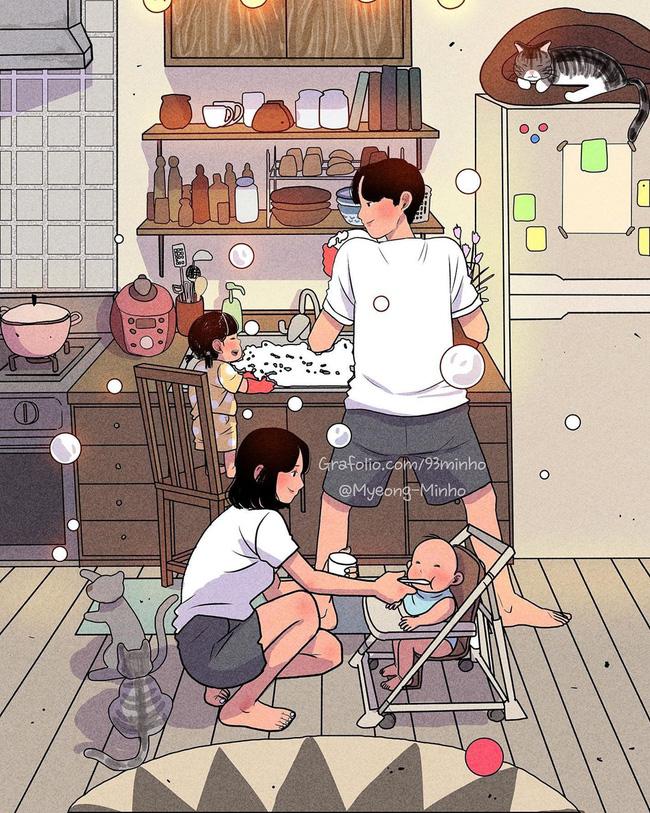 Không rời mắt được trước bộ ảnh nhẹ nhàng sâu lắng của gia đình có 2 con nhỏ: Cuộc sống chỉ cần bình yên như này là đủ rồi - Ảnh 8.