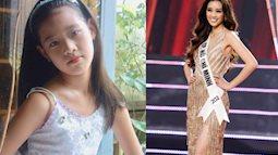 """Khánh Vân - Hoa hậu Hoàn vũ Việt Nam 2019: Ảnh thời thơ ấu và lúc đi học """"gây sốt"""" vì quá đáng yêu!"""