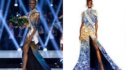 Bật mí chi tiết váy đỉnh cao, giúp Zozibini Tunzi che nhược điểm đôi vai để xuất sắc đăng quang Miss Universe 2019