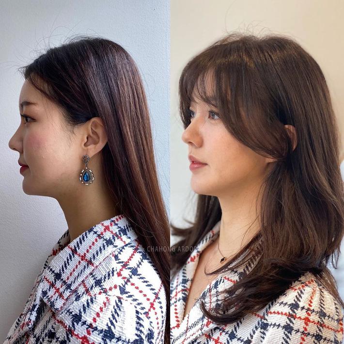 Chùm ảnh lột xác chứng minh sự vi diệu của tóc mái: Hack tuổi thì rõ rồi, nhưng còn che trán thưa hói, nâng tầm nhan sắc tài tình - Ảnh 11.