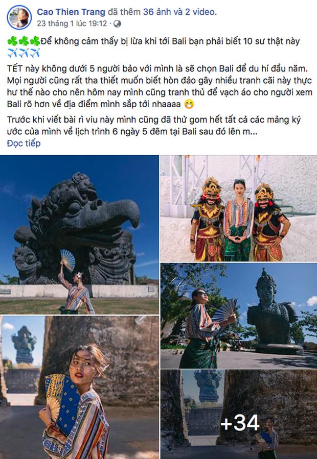 """Sự trùng hợp thú vị của Vbiz đầu năm: loạt sao cùng đi du lịch Bali, bất ngờ hơn là một người mẫu đã """"tiên đoán"""" được cảnh này từ trước Tết? - Ảnh 5."""