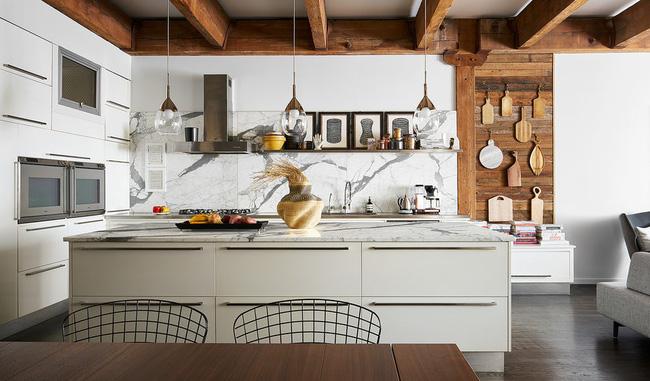 Ngây ngất với nét mộc mạc hiếm hoi bên trong căn phòng bếp gia đình hiện đại - Ảnh 1.
