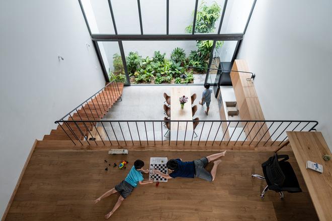 Lạ mắt với ngôi nhà được thiết kế trông như mảnh ruộng bậc thang tại Quy Nhơn - Ảnh 2.