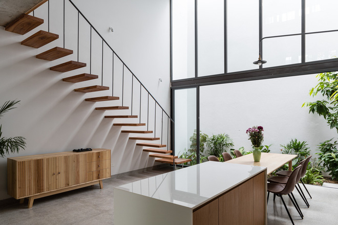 Lạ mắt với ngôi nhà được thiết kế trông như mảnh ruộng bậc thang tại Quy Nhơn - Ảnh 10.