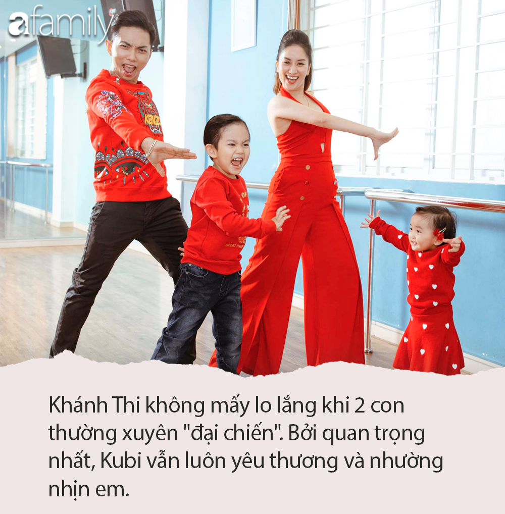 Kubi tị vì bố mẹ chỉ quan tâm em gái, Khánh Thi hài hước nói một câu khiến cậu bé phì cười, hết giận dỗi tức thì - Ảnh 4.