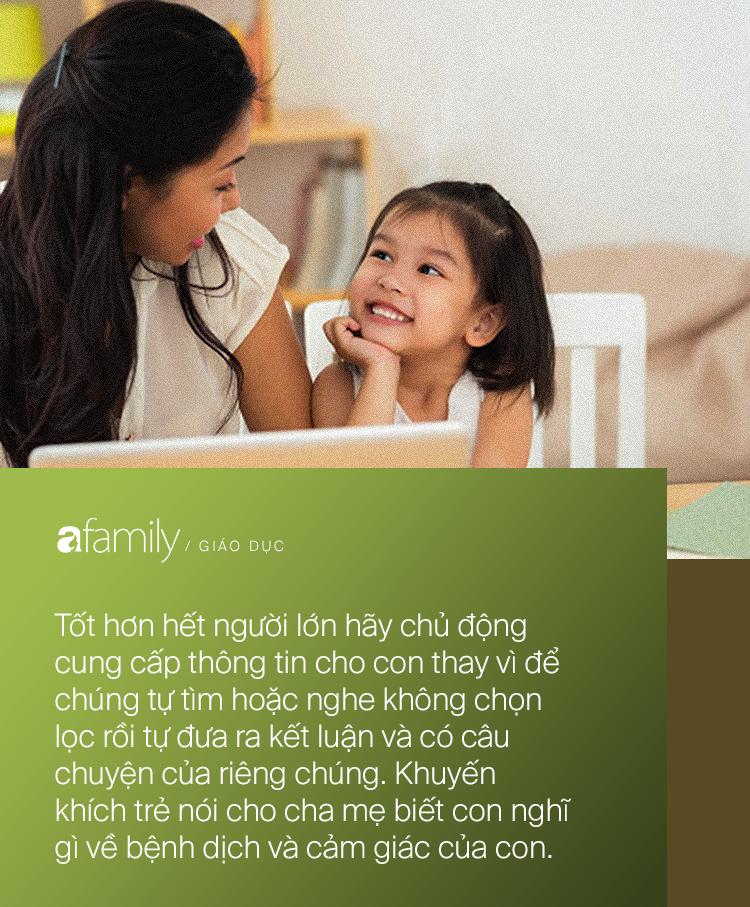 Parent coach Linh Phan hướng dẫn cha mẹ cách nói chuyện với con về dịch bệnh, chỉ ra những lưu ý quan trọng - Ảnh 2.