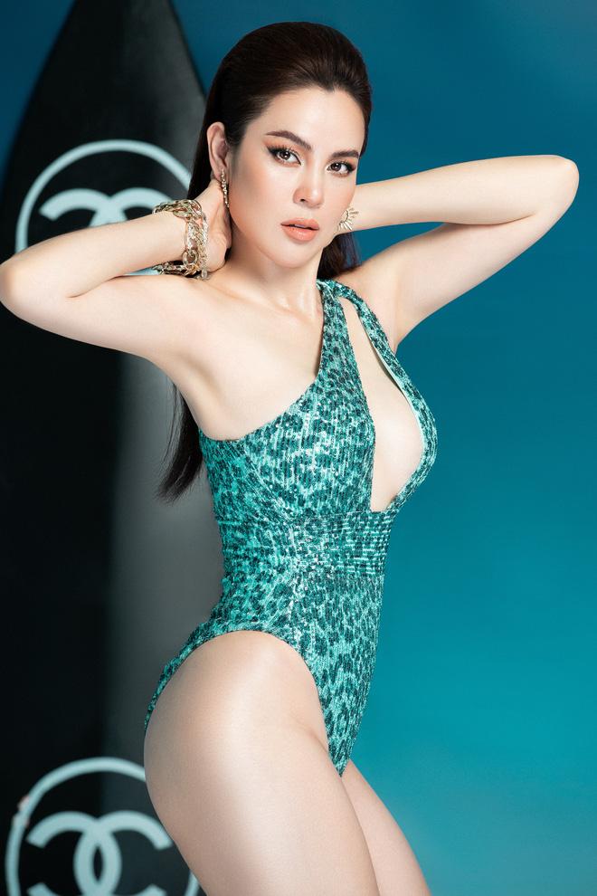 Dù đã 3 con nhưng Hoa hậu Phương Lê vẫn diện bikini quyến rũ - Ảnh 6.